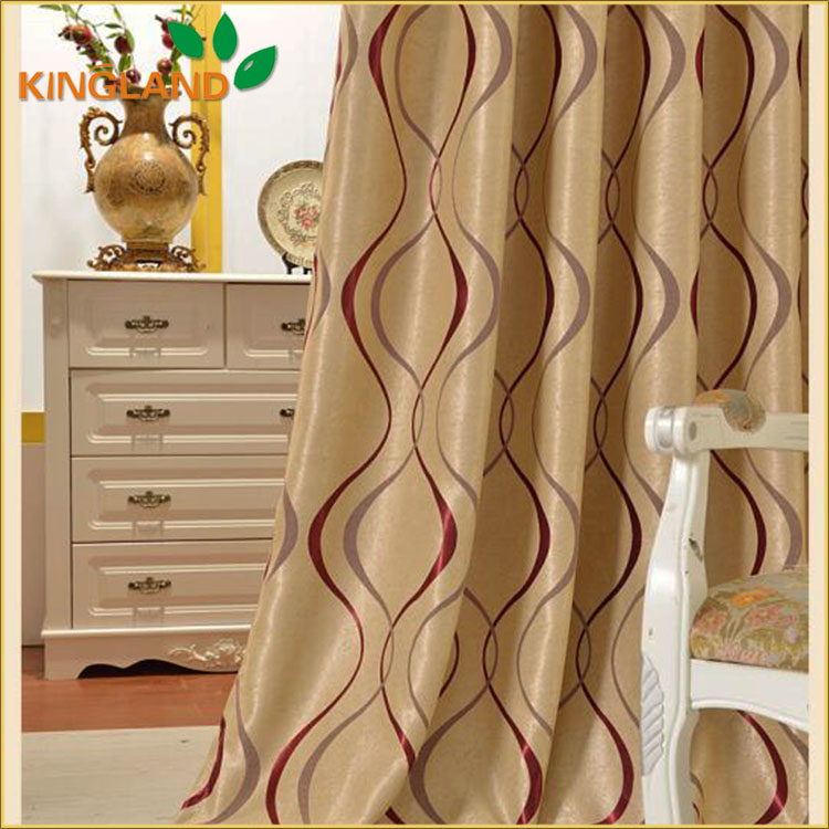 Latest Fashion 100% Polyester Bedroom Curtain Styles