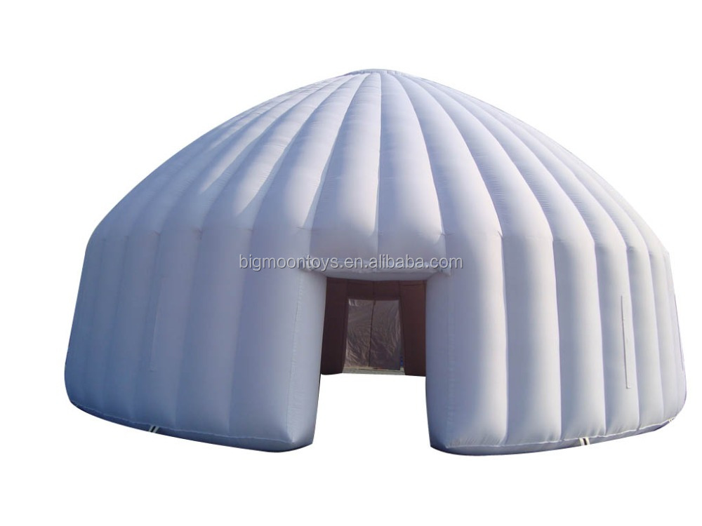popular double layer PVC tarpaulin outdoor inflatable igloo tent, inflatable white dome tent