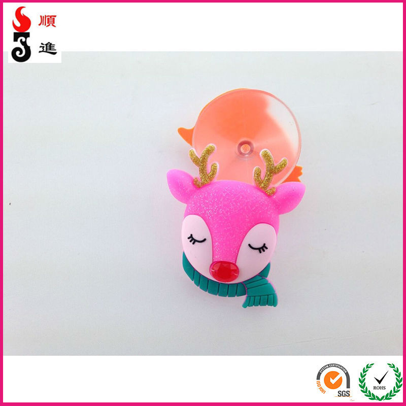 2014 promotional Christmas deer animal shape suction hook for home decoration