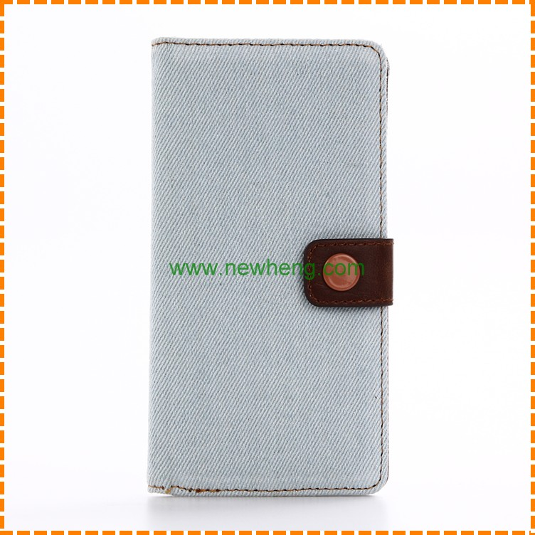 New arrival Jeans Cowboy Pattern Stand Leather Mobile Phone Case For Sony Xperia XZ