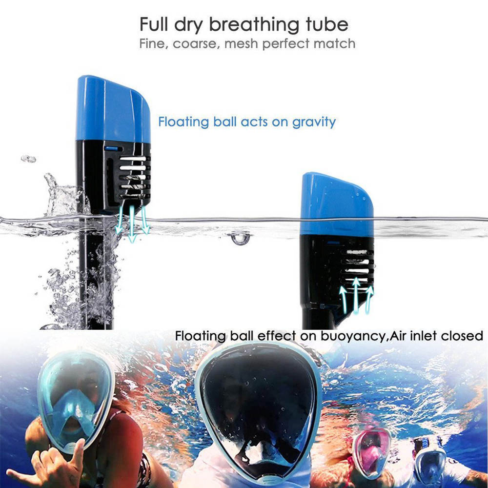 New Premium 2017 Scuba Diving Equipment Mask Full Face 180 Degree Snorkel Mask H2o Ninja Mask For Gopro Camera Adults