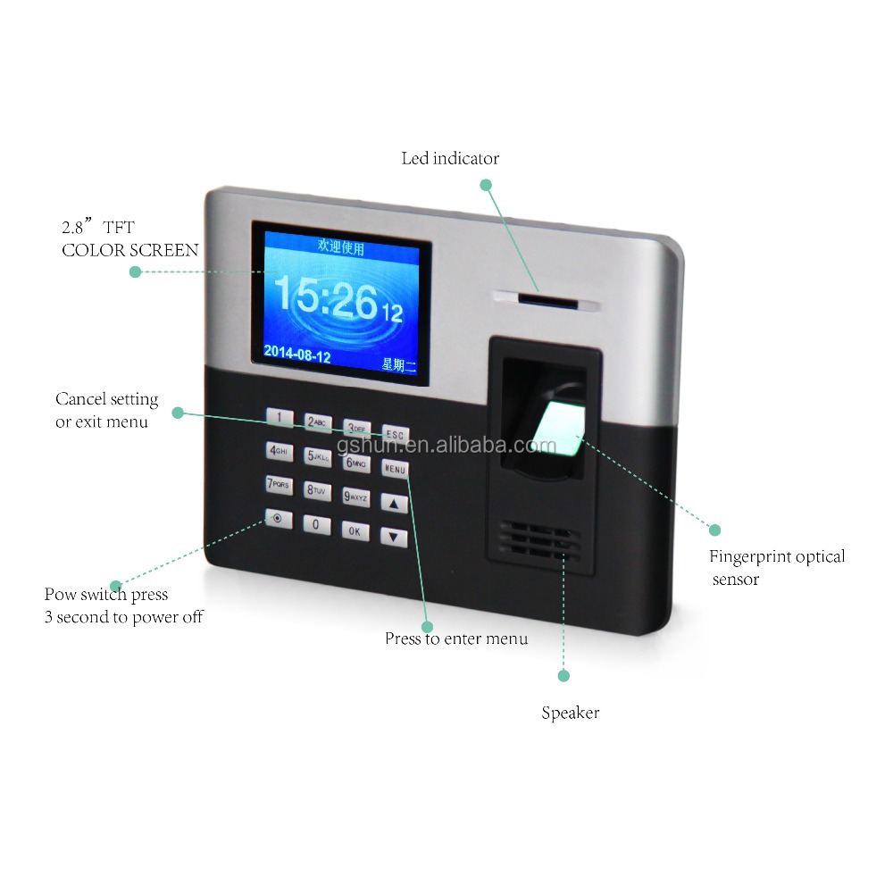 employee attendance machine finger print time attendacne 1000 capacity free attendance software