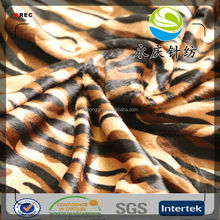 100% polyester animal printed velvet fabric for sofa