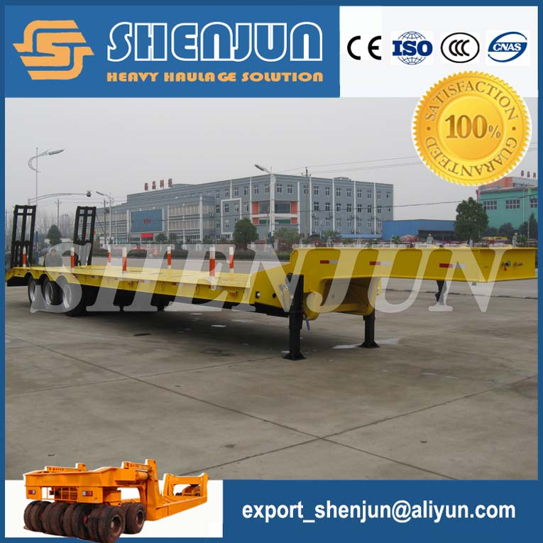 Best price low bed truck semi trailer dimension optional for sale