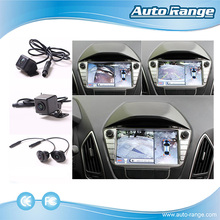 Around view car monitor 360 degree camera bird view system with 4 HD camera 170 degree wide angle parking system
