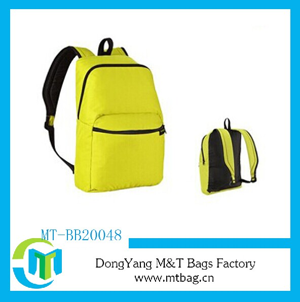 Promotional backpack waterproof bag fold up back pack
