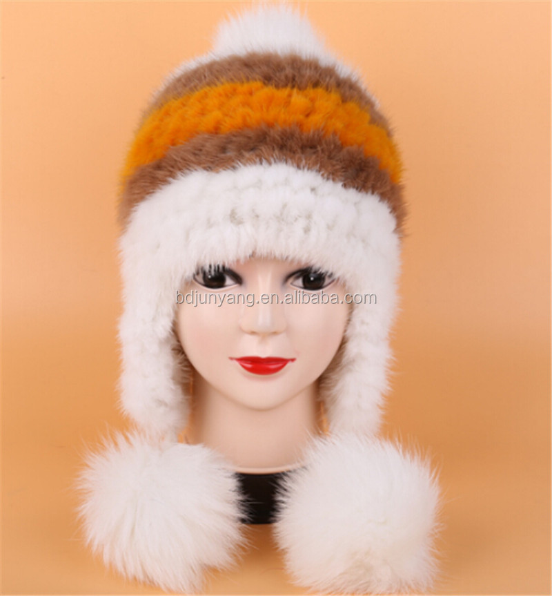 China Wholesale Lady Hat Free Sex Girls With Animals Free Mink Fur Winter Hat