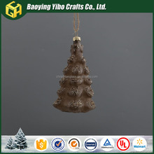 Christmas glass indoor and outdoor decor christmas tree decoration