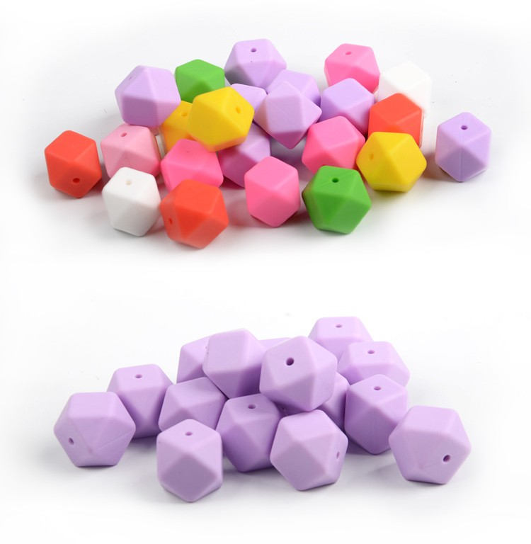 Factory Wholesale Food Grade Soft Silicone Beads For Baby Chewable Jewelry