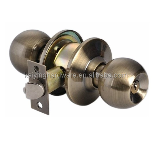 Cylindrical knob door locks main entrance gate front door entry privacy bathroom door cylinder knob lock, cerraduras 587AB