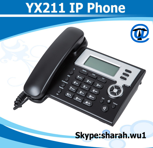 voip ip phone with 2 sip account IP phone ip desk phone YX211
