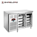 R255 2 Glass Doors Luxurious Fancooling Tray Undercounter Refrigerator