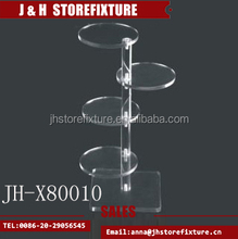 High class acrylic clear display shelf case for cap, bags, shoes