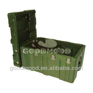 JY835352 Plastic rotational moulding military box with wheels