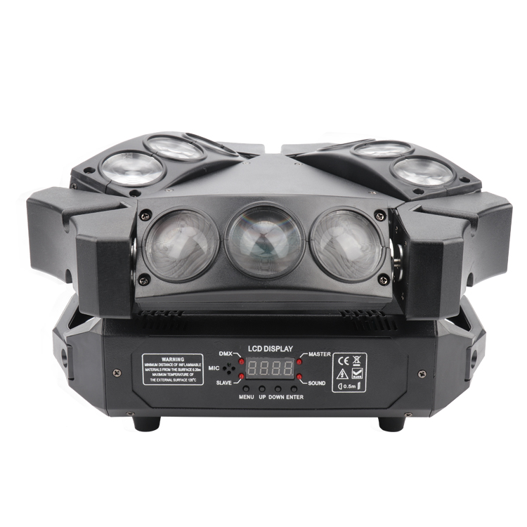 Moving Head <strong>Beam</strong> Light 9X3W RGBW 4In1 LED Mini Spider Stage Moving Head Light DMX Bar KTV DJ Disco Lighting