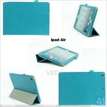 For iPad Air Case Flip Leather Case with Stylus Holder P-IPD5CASE060