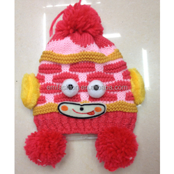 2014 Winter New Soft High Quality Handmade Knit Animal Pattern Children Acrylic Hat