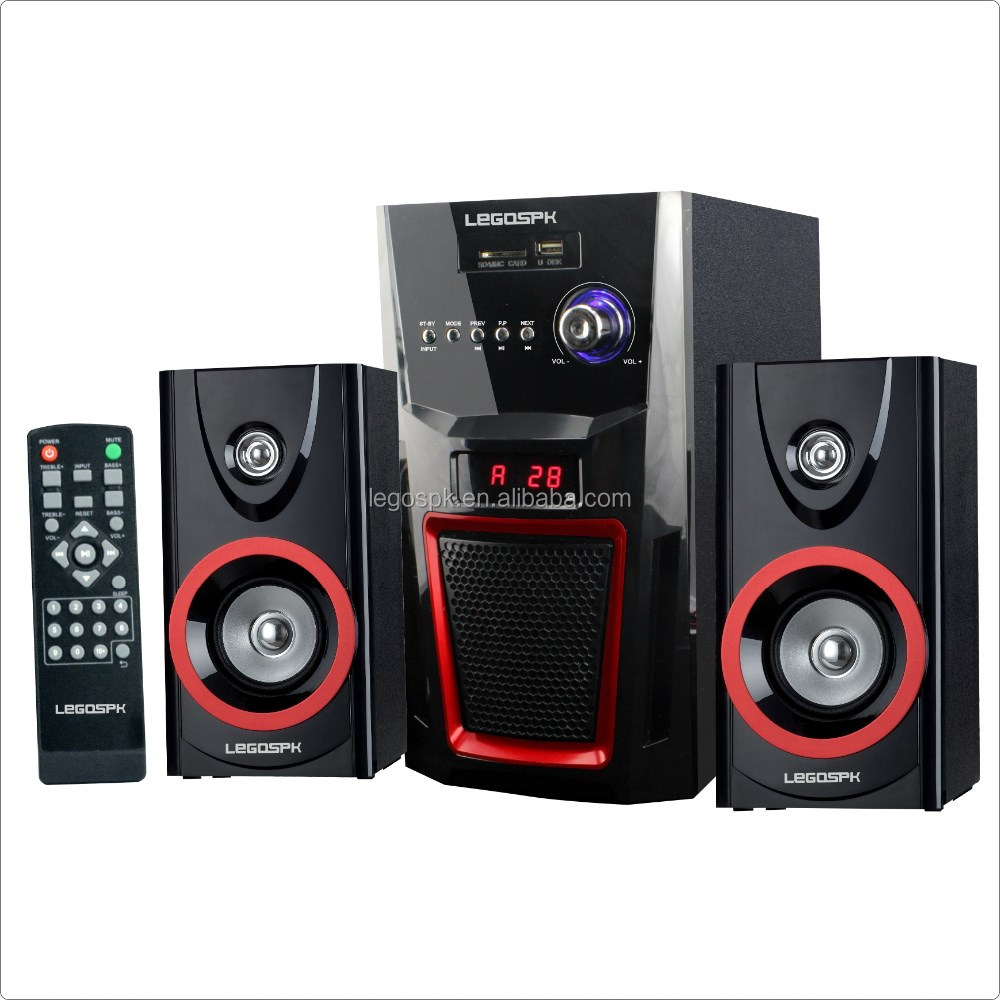 home theatre use 2.1 multimedia speaker system with factory price