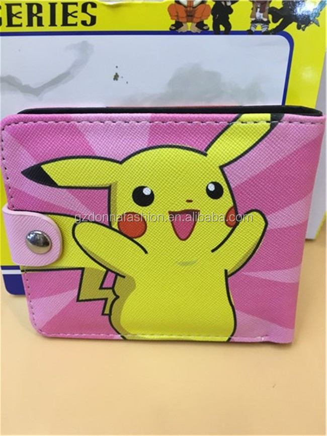Wholesale Hot Anime Anime Purse Hat Pikachu PU Wallets DNAF5EE039