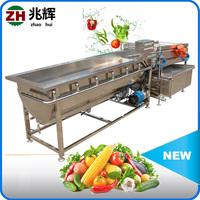 Bubble washing for vegetable fruit/orange apple air bubble washing machine/salad pre-processing machine