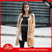 2016 OEM heavy sweater coat handmade knitting cardigan sweater female overcoat good quality women cardigan sweater coat