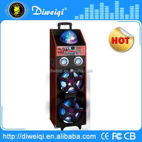 New Brand portable trolley stage speaker with disco light