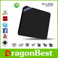 Remarkable Latest Amlogic S905 quad core 2gb ram android tv android mini pc NAND Flash 8G m8s android box