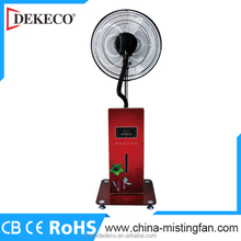 Portable indoor Powered water mist fan with humidifier