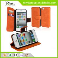 Newest Product wholesale wallet pu mobile cell phone case for iphone5 5S