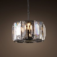 HARLOW CRYSTAL 4 LIGHTS IRON CHANDELIER