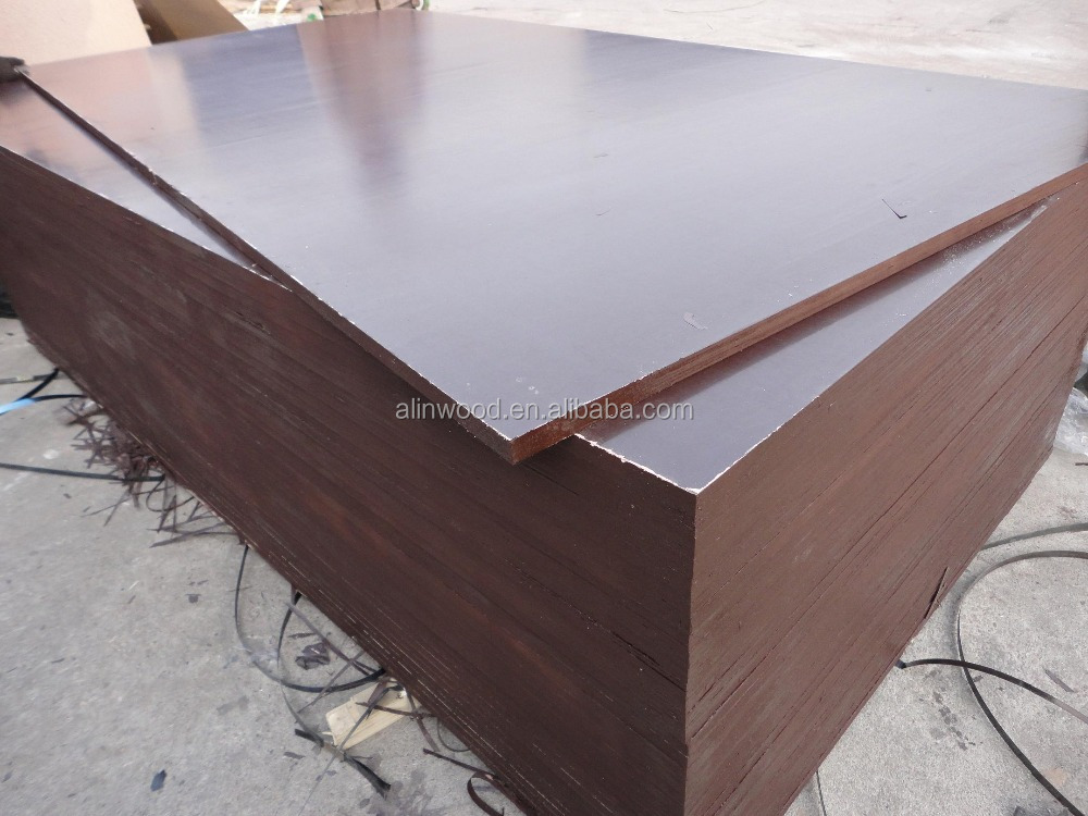 Linyi Yellow/Red/Black/Brown Film Faced Plywood for construction,Concrete