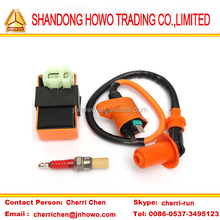 Motorcycle Performance CDI+ Ignition Coil + Sparking Plug Fit Gy6 50cc 125cc 150cc 139QMB 152QMI 157QMJ