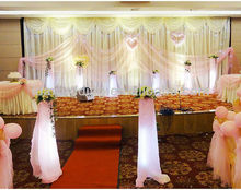 shimmer backdrop curtains for wedding decoration