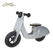"10"" Scooter Solar Enegie Silver Wooden Running Bike for Kids Training"