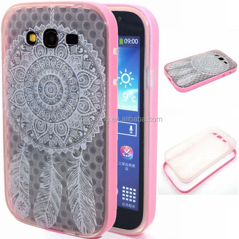 Bumper cover with clear back case for Samsung Galaxy Grand Duos I9082 I9060