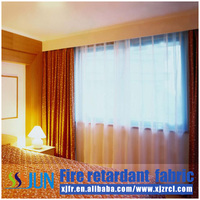 Fire resistant blackout hotel curtains