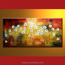 Newest Flower Art Painting Handmade Flower Designs Fabric Painting On Canvas
