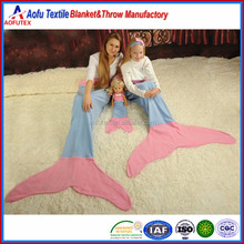 Princess ariel daughter unique birthday gift fleece blanket kids adult two Mermaid Tail Blanket for baby child girl sisters