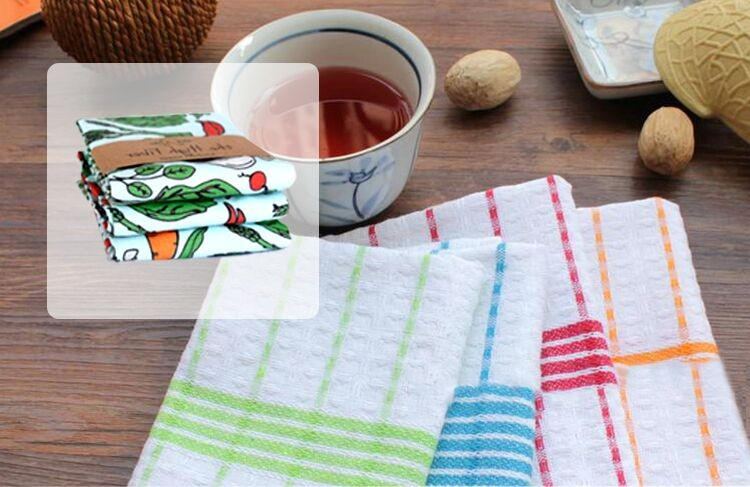 luxury factory wholesale cotton tea towel fabric