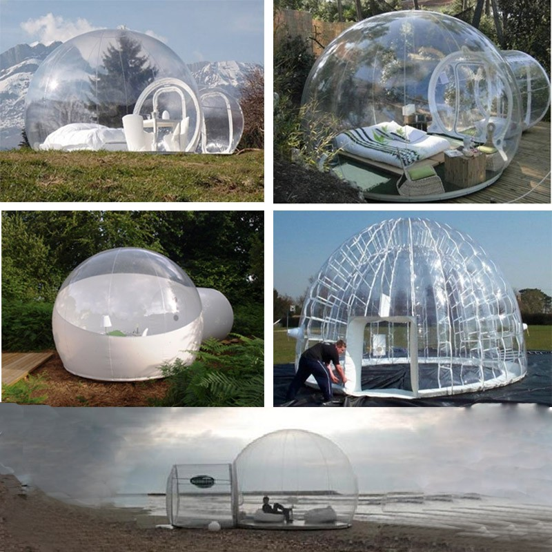 Factory wholesale can customerized inflatable bubble tent / outdoor inflatable camping tent / inflatable clear bubble tent