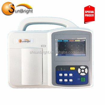 portable 3 channel 12 lead ECG electrocardiogram EKG machine