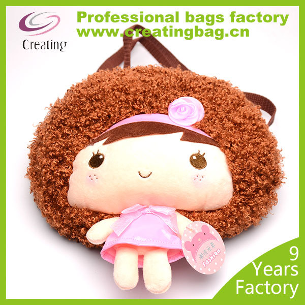 Cute Doll Plush Toy Backpack for 2-5 years baby