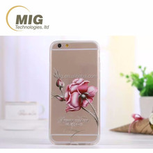 Rose flower transparent TPU Cell phone case For iphone 6 case 2016 hot For iphone 6S case
