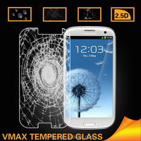 For FactorySupply 0.26mm 9H 2.5d Anti-Crack Anti Glare Cell Phone/Mobile Phone Samsung galaxy s3 tempered glass screen protector