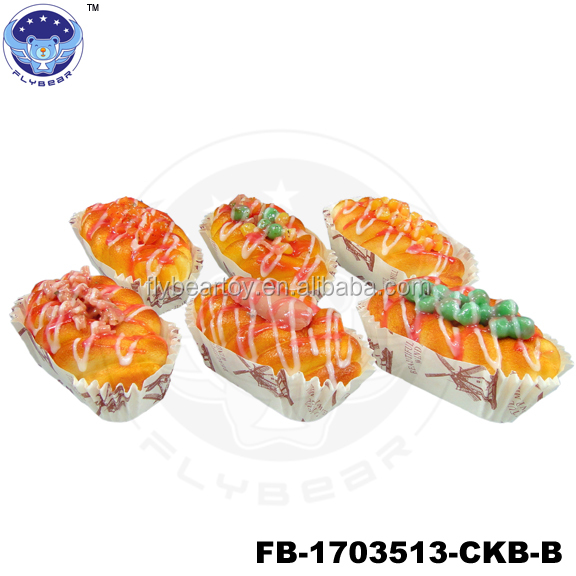 Bread with hot dog designs Fake food Promotional Gifts simulated models
