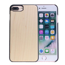 For Iphone 6&7 PC wood custom logo phone case, full wood back case, natural wooden pc phone case for iphone 6 and iphone77