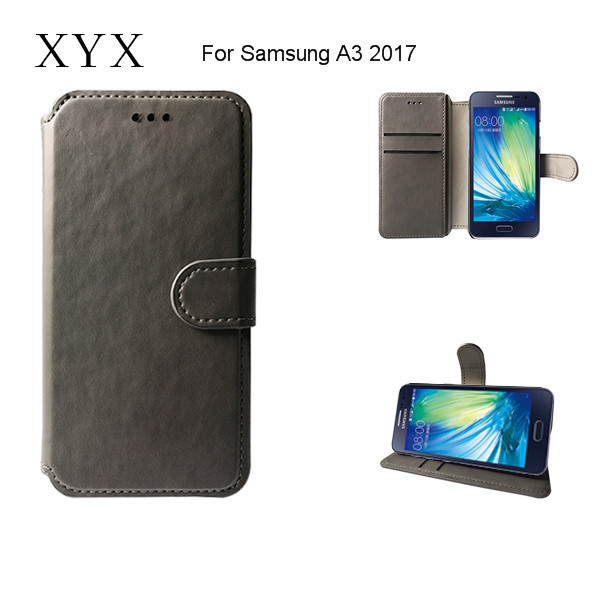 simple design pu leather <strong>mobile</strong> phone back case for Samsung A3 2017