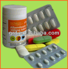 200mg and 400mg Horse Medicine Albendazole tablet