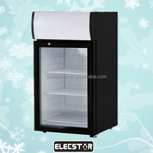 Promotional Glass Door Custom Mini bar Fridge/Stainless Steel Material and Portable Installation custom mini fridge