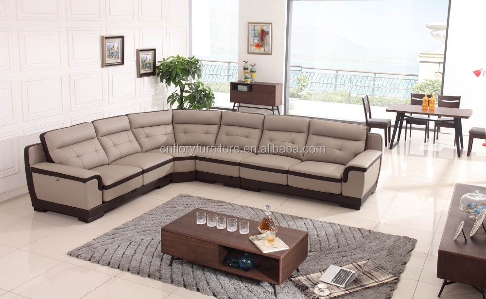 2016 New leather sofa design living room furniture